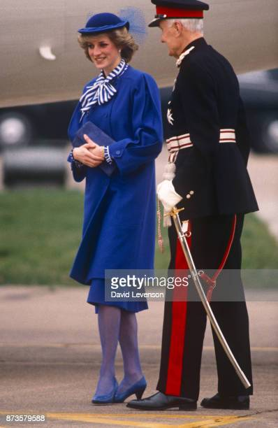 Princess Diana in Leicester in March 1984