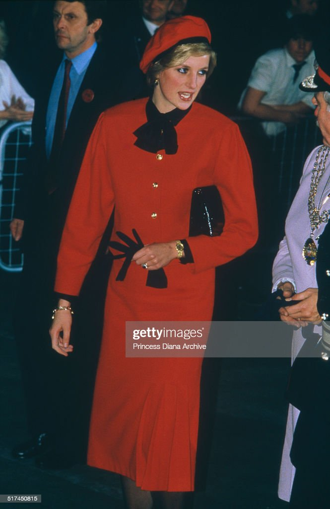 Princess Diana In Southampton : News Photo
