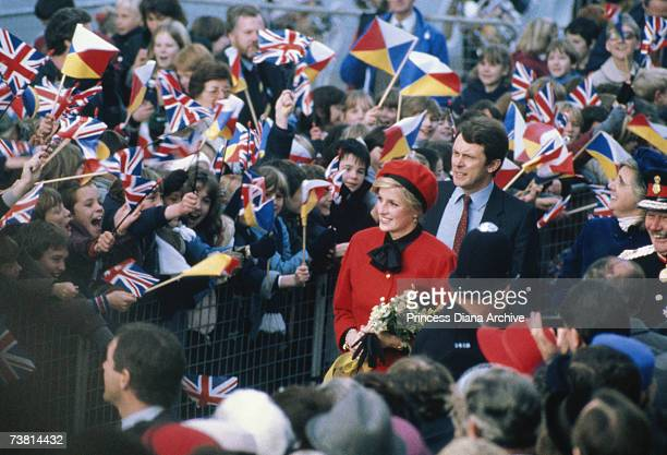 Princess Diana in Southampton to launch the 'Royal Princess' liner 15th November 1984