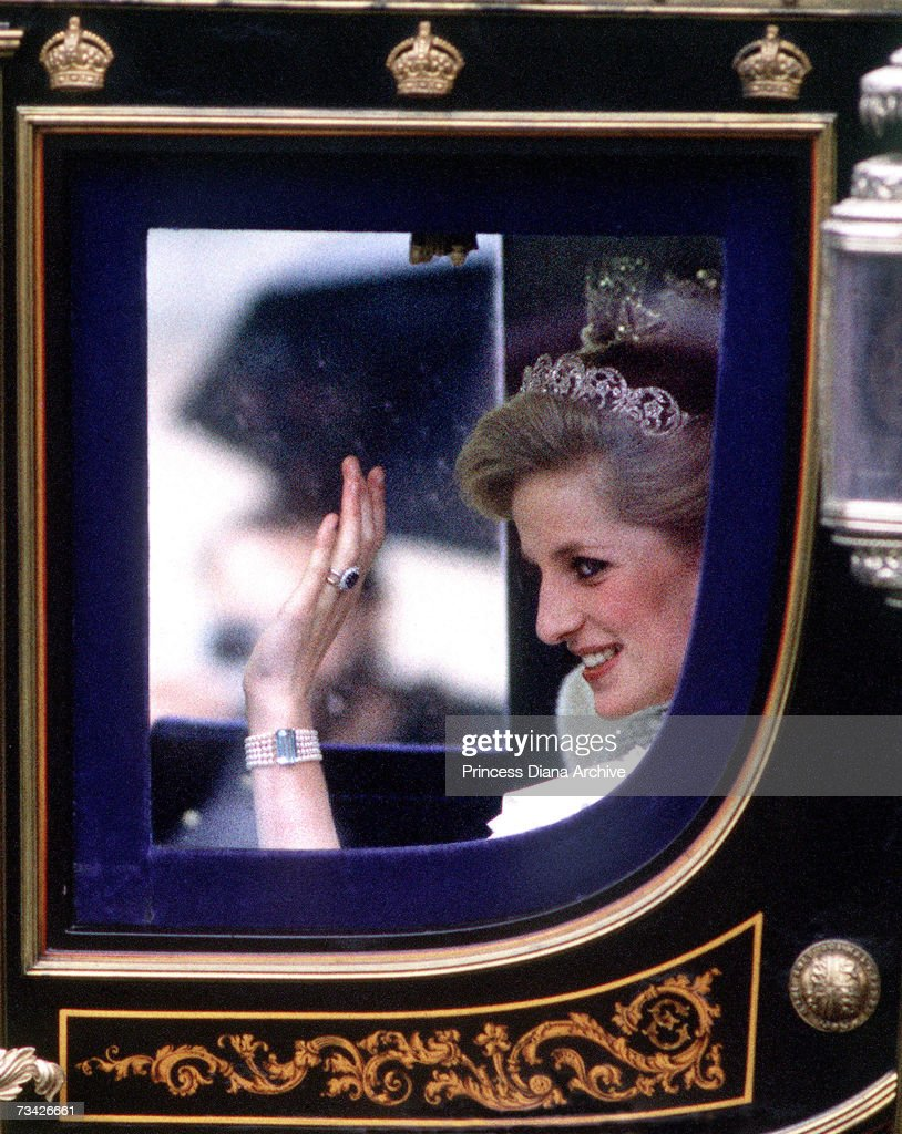 Diana Waves From Carriage : News Photo