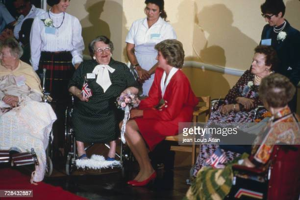Princess Diana in Washington DC on a visit to a psychiatric hospital during an official trip to the United States 9th November 1985