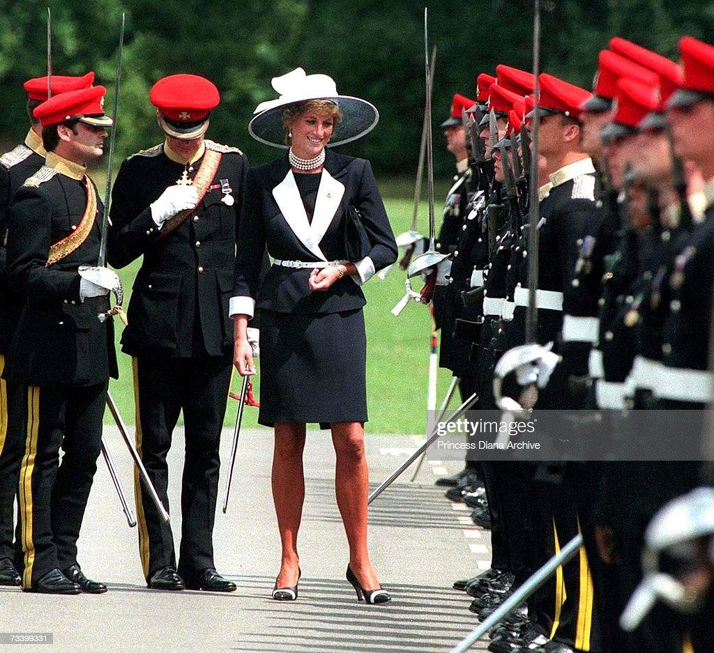 Diana At Army Base : News Photo