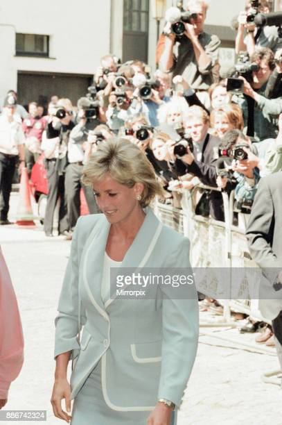Princess Diana keeps her first engagement as a divorced woman for a visit to the English National Ballet HQ South Kensington London Wednesday 28th...