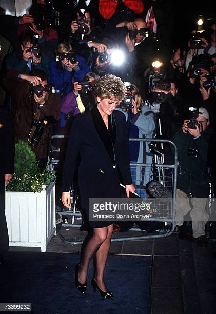 Princess Diana leaves a press conference at the Hilton Hotel London at which she gave a speech resigning from her public duties 3rd December 1993 She...
