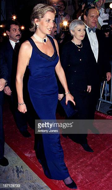 Princess Diana & Liz Tilberis Attend The Council Of Fashion Designers Of America Gala Ball In New York.