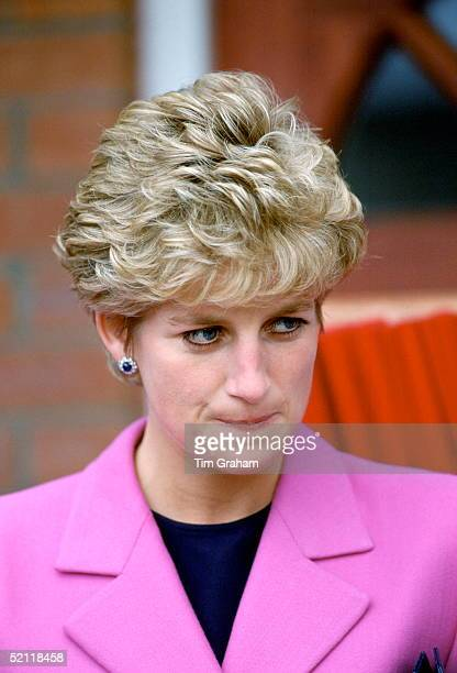 Princess Diana Looking Anxious During A Visit To Manchester
