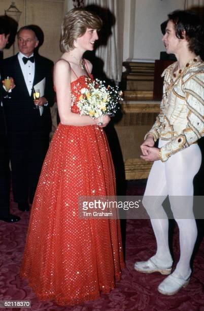 Princess Diana Meeting Ballet Dancer Rudolph Nureyev At The Royal Opera House