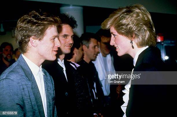 Princess Diana Meeting Musician Bryan Adams After A Pop Concert In Vancouver During Her Tour Of Canada