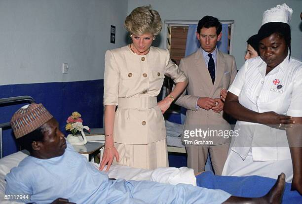 Princess Diana Meeting Patients During A Visit To A Leprosy Hospital The Molai Centre In Borno Nigeria