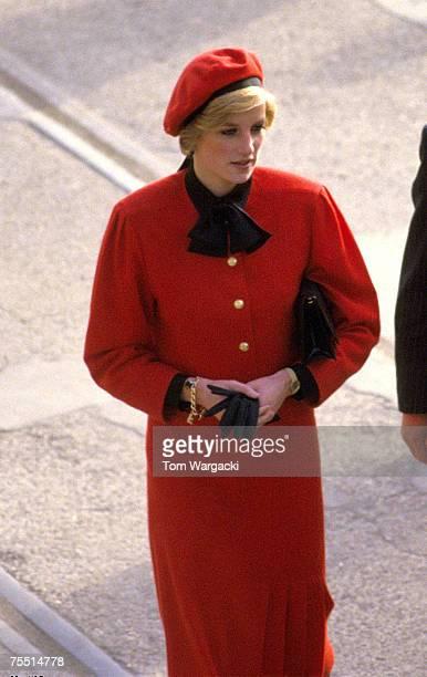 Princess Diana names ship Royal Princess at Southampton in November 1984 at the Various in Various United Kingdom