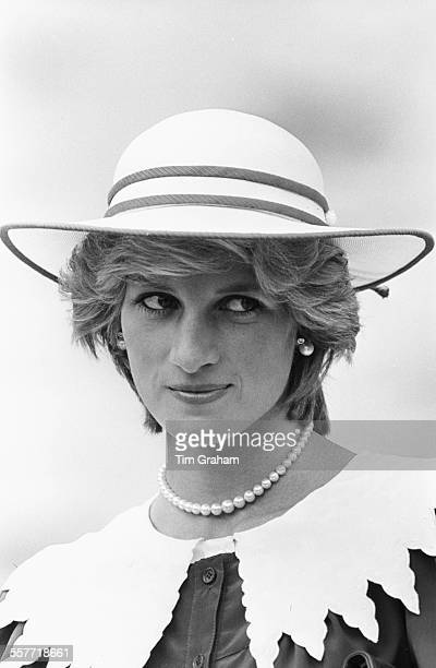 Princess Diana of Wales on a visit to Canada circa 1985