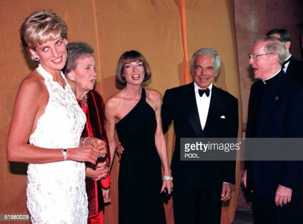 Princess Diana of Wales , Washington Post owner Katheryn Graham, Vogue Magazine editor Anna Wintour, designer Ralph Lauren, and Georgetown University...