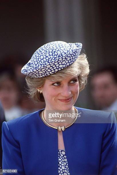 Princess Diana On A Visit To Canada