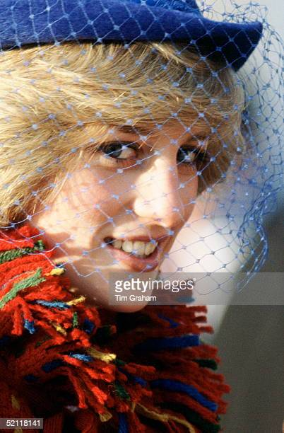 Princess Diana On An Official Visit To Wales