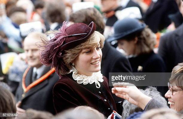 Princess Diana On Walkabout In Wales