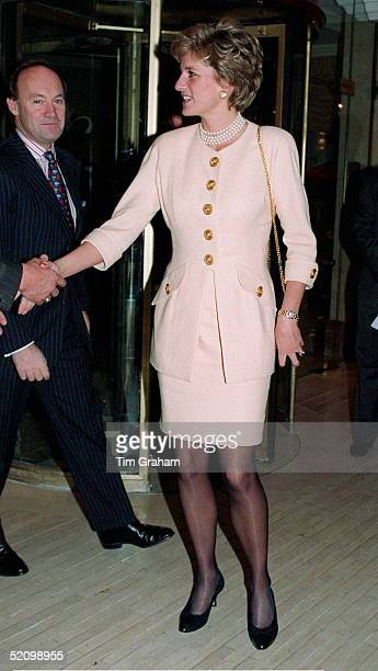 Princess Diana Patron Headway National Head Injuries Association Attending A Lunch At The Hilton Hotel Park Lane London