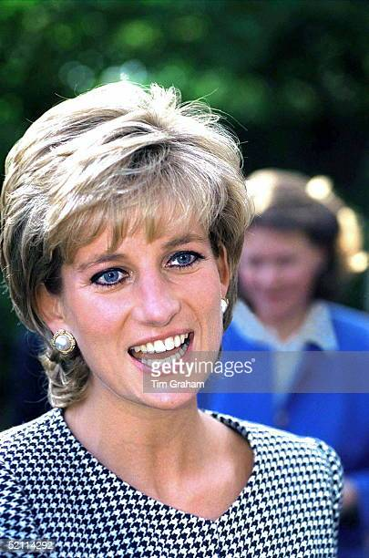 Princess Diana, Patron, Opening The National Institue Of Conductive Education At Cannon Hill House, Russell Road, Moseley, Birmingham.