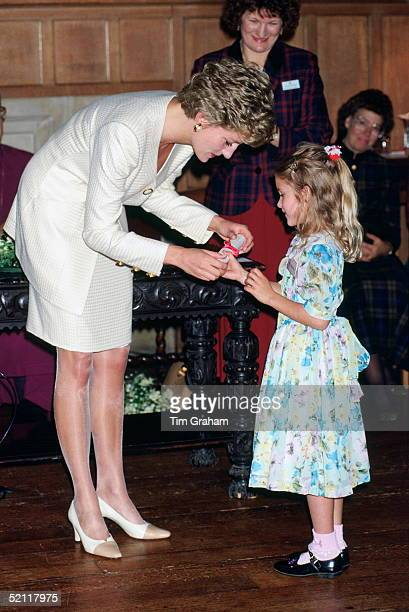 Princess Diana Presenting Awards To Leprosy Mission Volunteers At Lambeth Palace