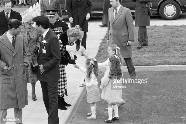 Princess Diana Princess of Wales and Prince Charles Prince of Wales visit Tolaram Polymers in Hartlepool 18th March 1987