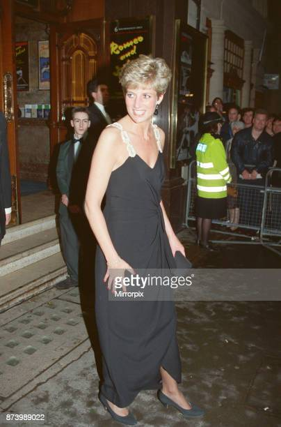 Princess Diana Princess of Wales arrives at The Coliseum in London to see The Taming of the Shrew' performed by The English National Ballet Princess...