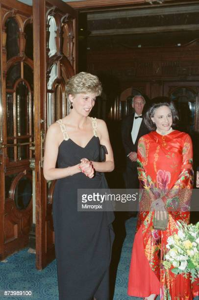 Princess Diana Princess of Wales arrives at The Coliseum in London to see The Taming of the Shrew' performed by The English National Ballet Picture...