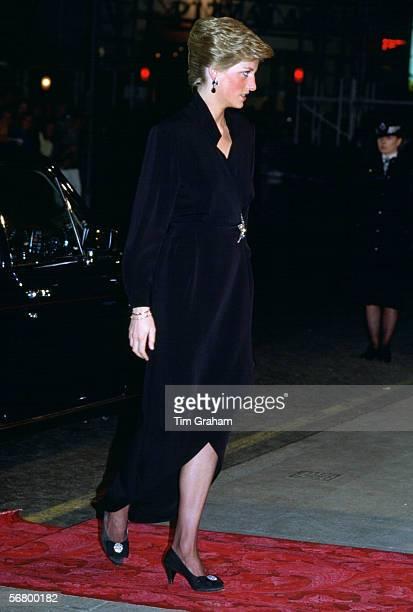 Princess Diana Princess of Wales arrives at the London Palladium