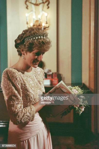 Princess Diana Princess of Wales at Covent Garden London April 1992 Picture taken 9th April 1992