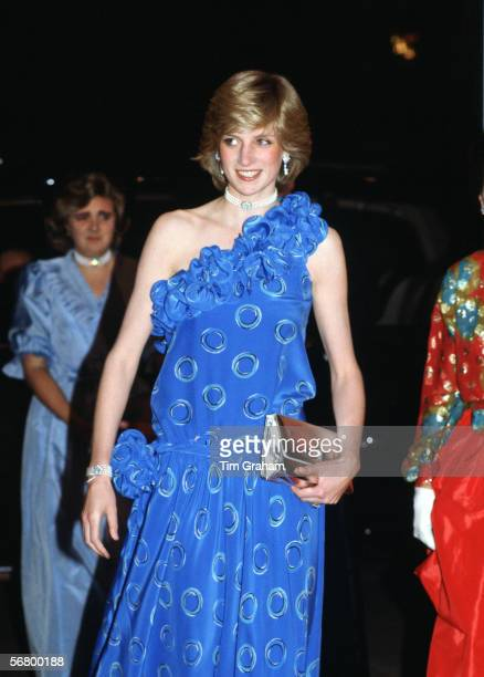 Princess Diana, Princess of Wales at the Guildhall in London for a fashion show raising funds for Birthright, the charity for which she is Patron.