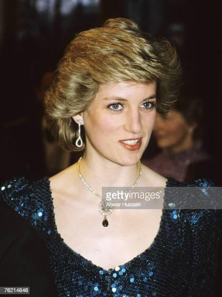 Princess Diana Princess of Wales at the Vienna Burgh Theatre October 14 1986 in Vienna Austria