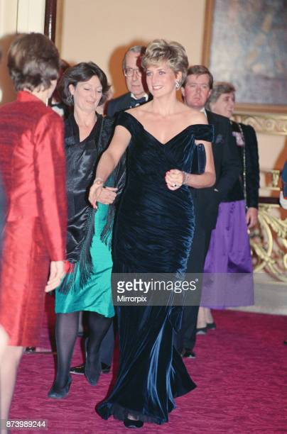 Princess Diana, Princess of Wales, attends Carnival of the Birds for the RSPB Charity, Royal Opera House, Covent Garden, London, Britain. Diana is...