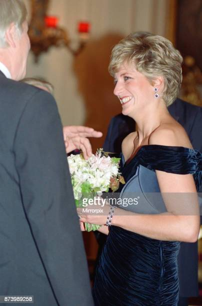 Princess Diana Princess of Wales attends Carnival of the Birds for the RSPB Charity Royal Opera House Covent Garden London Britain Diana is...