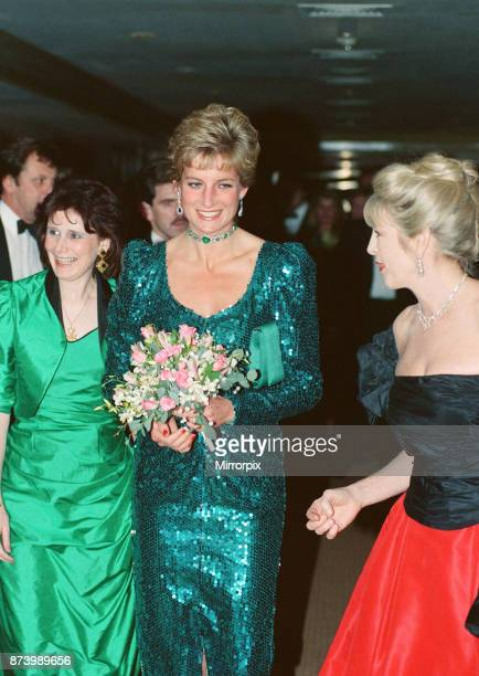 Princess Diana Princess of Wales attends the Diamond Ball in aid of Schizophrenia a National Emergency of which she is Patron at The Royal Lancaster...