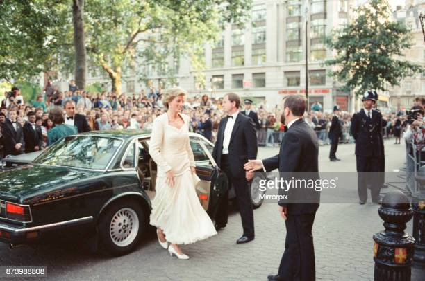 Princess Diana Princess of Wales attends the film premiere of Back To The Future 3 at The Empire Theatre in Leicester Square London Picture taken...