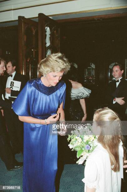 Princess Diana Princess of Wales attends the First Night of the English National Ballet at The Coliseum Theatre London Picture taken 16th July 1990