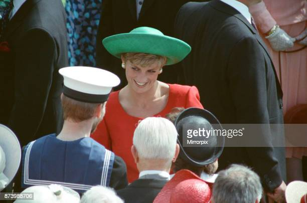 Princess Diana Princess of Wales meets the many wellwishers at The Buckingham Palace Garden Party London Picture taken 9th July 1991