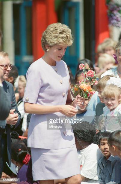 Princess Diana Princess of Wales meets the students and teachers at Broadwater School Tooting South London Picture taken 5th July 1993