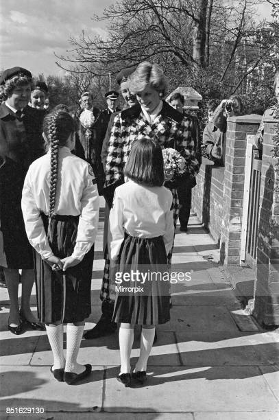 Princess Diana Princess of Wales visits Red Cross Middlesbrough 18th March 1987