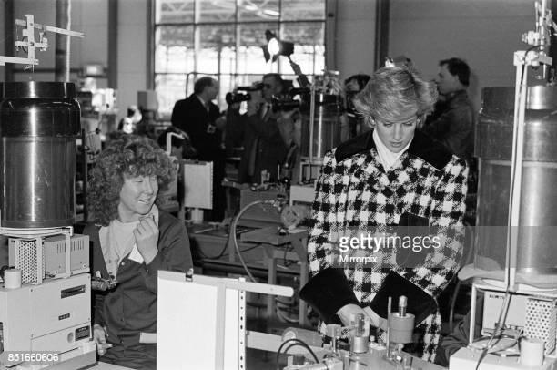 Princess Diana Princess of Wales visitS Tabuchi at Teesside Industrial Estate 18th March 1987