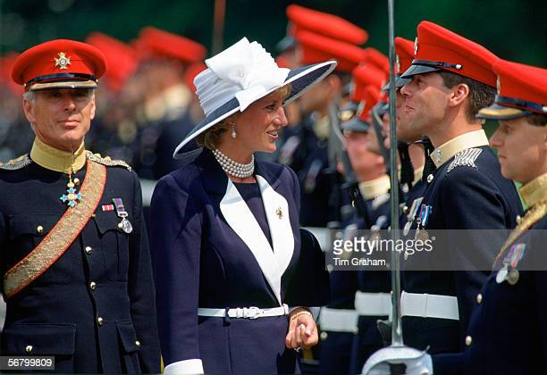 Princess Diana Princess of Wales visits the Light Dragoons in Germany Diana is their ColonelinChief
