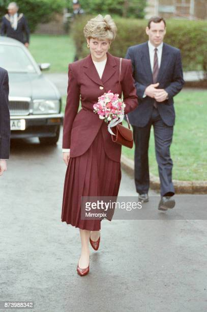 Princess Diana Princess of Wales visits the St Christopher's Fellowship Project for Homeless Young People at St Bernard's Wing Ealing Hospital...