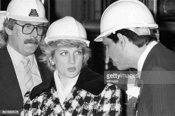 Princess Diana Princess of Wales visits Tolaram Polymers in Hartlepool 18th March 1987