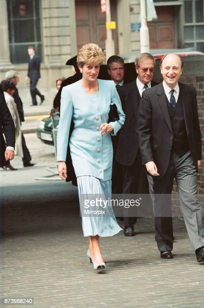 Princess Diana Princess of Wales who is patron of The Dystrophic Epidermolysis Bulosa Research Association attends a luncheon at the Worshipful...
