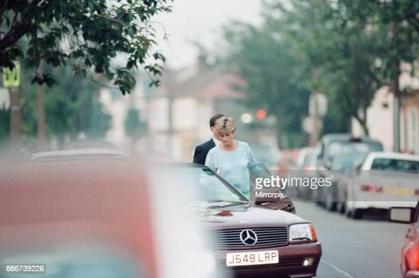 Princess Diana returns to car after visiting friend Carolyn Bartholmew former flatmate in London Wednesday 10th June 1992 Carolyn Bartholmew...