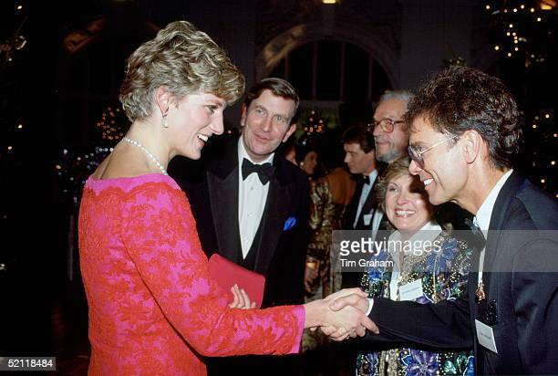 Princess Diana Shaking Hands With Singer Cliff Richard After Watching Him Perform At The 'joy To The World Concert' At The Royal Albert Hall On His...
