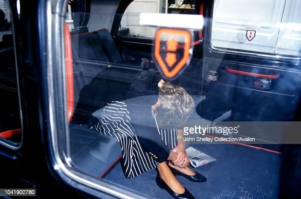 Princess Diana Sitting inside a cab 29th March 2017