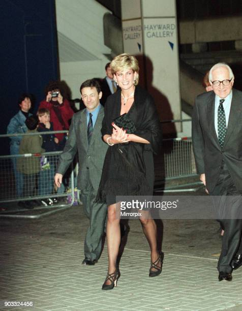 Princess Diana The Princess of Wales attends a private piano recital performed by Madame Helene MercierArnault and Brigitte Engerer at The Queen...