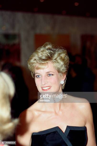 Princess Diana The Princess of Wales attends the Royal Gala Premiere of '1492 Conquest of Paradise' at The Empire Leicester Square London picture...