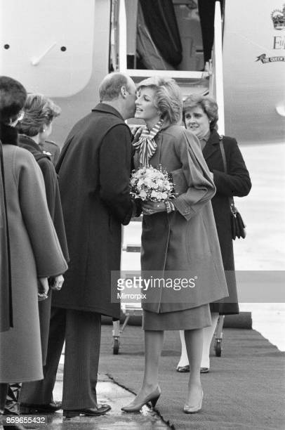 Princess Diana the Princess of Wales in Oslo Norway This was Princess Diana's first solo engagement abroad Diana is pictured with Crown Prince Harald...