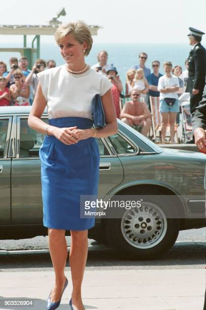 Princess Diana The Princess of Wales visits Brighton in East Sussex She is in Brighton to speak at The British Deaf Association Centenary Congress...