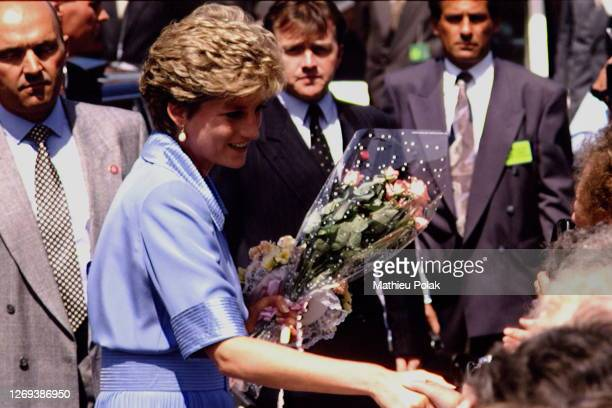 Princess Diana Visiting A Hospital In Southport